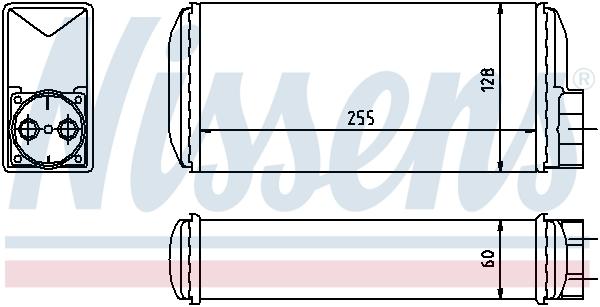 Radiateur de chauffage NISSENS 73650 (X1)
