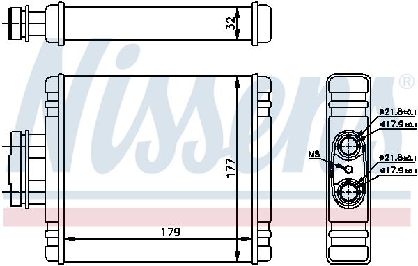 Radiateur de chauffage NISSENS 73654 (X1)