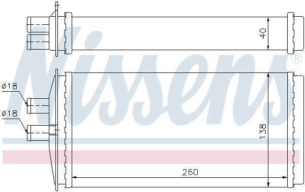 Radiateur de chauffage NISSENS 73655 (X1)
