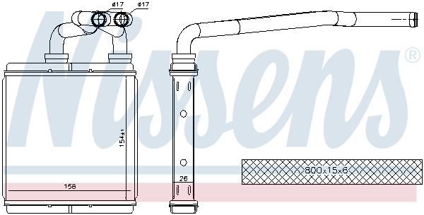 Radiateur de chauffage NISSENS 73675 (X1)