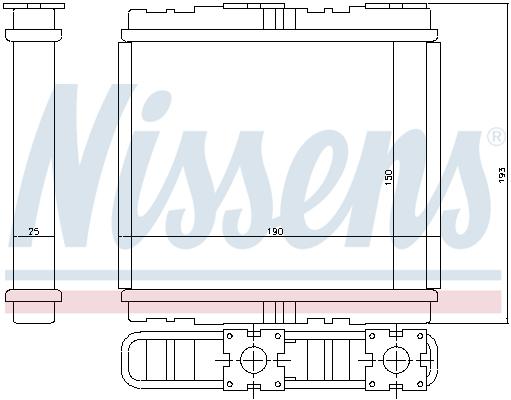 Radiateur de chauffage NISSENS 73700 (X1)