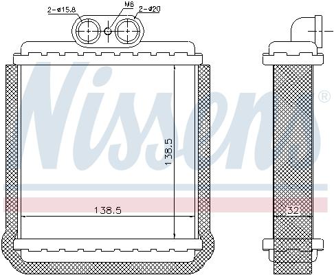 Radiateur de chauffage NISSENS 73751 (X1)