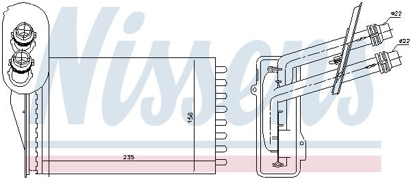 Radiateur de chauffage NISSENS 73850 (X1)