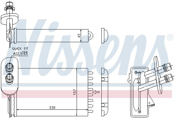 Radiateur de chauffage NISSENS 73921 (X1)