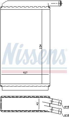 Radiateur de chauffage NISSENS 73940 (X1)