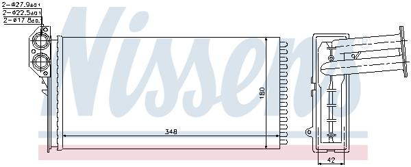 Radiateur de chauffage NISSENS 73941 (X1)
