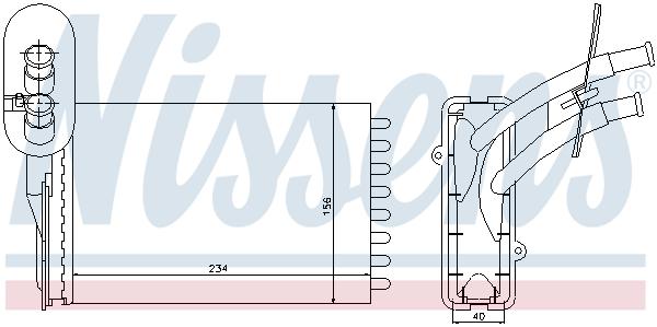 Radiateur de chauffage NISSENS 73961 (X1)