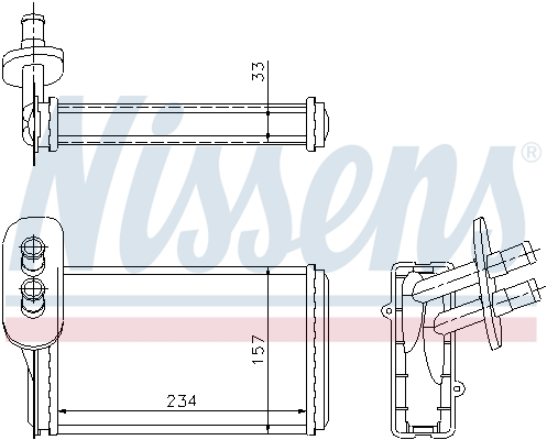 Radiateur de chauffage NISSENS 73962 (X1)