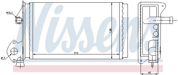 Radiateur de chauffage NISSENS 73964 (X1)