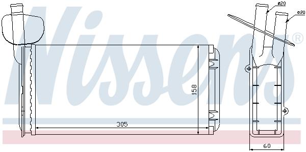 Radiateur de chauffage NISSENS 73965 (X1)