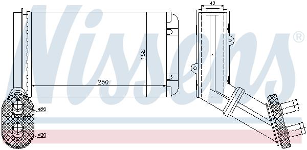 Radiateur de chauffage NISSENS 73972 (X1)