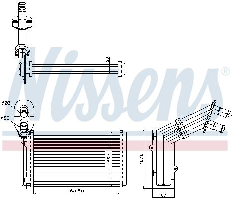 Radiateur de chauffage NISSENS 73973 (X1)