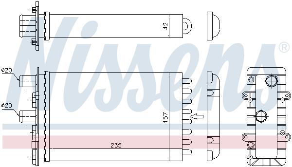 Radiateur de chauffage NISSENS 73974 (X1)