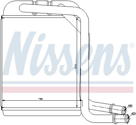 Radiateur de chauffage NISSENS 73976 (X1)
