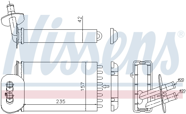 Radiateur de chauffage NISSENS 73977 (X1)