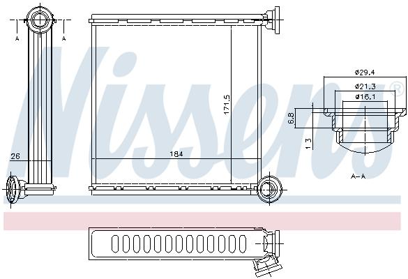 Radiateur de chauffage NISSENS 73980 (X1)