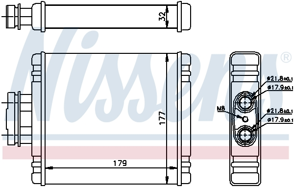 Radiateur de chauffage NISSENS 73981 (X1)
