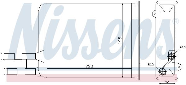 Radiateur de chauffage NISSENS 73984 (X1)