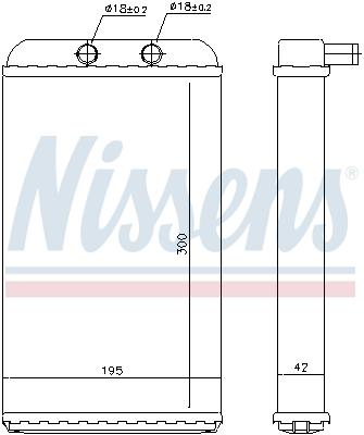 Radiateur de chauffage NISSENS 73986 (X1)
