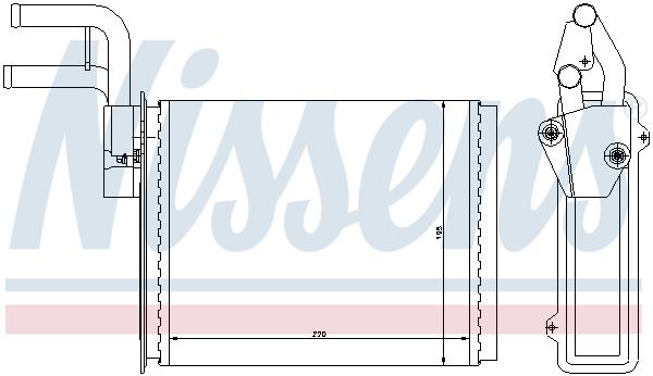 Radiateur de chauffage NISSENS 73987 (X1)