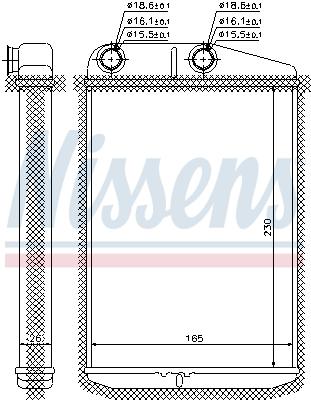 Radiateur de chauffage NISSENS 73989 (X1)