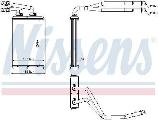 Radiateur de chauffage NISSENS 73990 (X1)