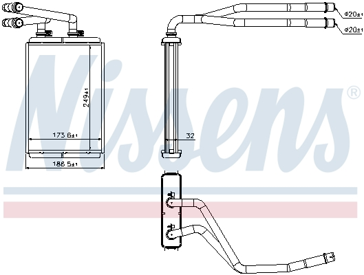 Chauffage NISSENS 73990 (X1)
