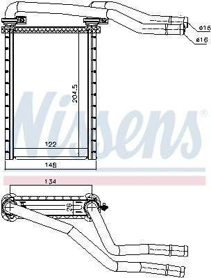 Chauffage NISSENS 73991 (X1)