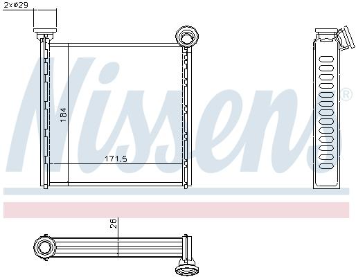 Radiateur de chauffage NISSENS 73992 (X1)