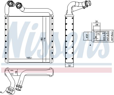Radiateur de chauffage NISSENS 73994 (X1)
