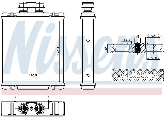 Radiateur de chauffage NISSENS 73997 (X1)