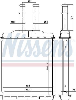 Radiateur de chauffage NISSENS 76505 (X1)