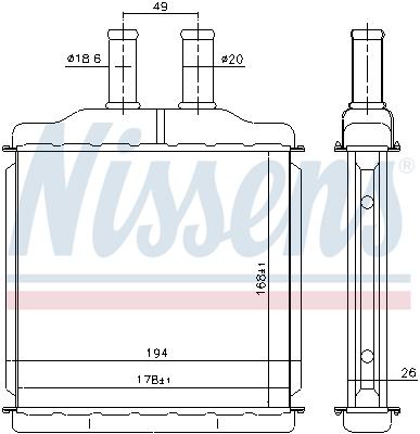 Radiateur de chauffage NISSENS 76509 (X1)