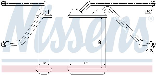 Radiateur de chauffage NISSENS 76511 (X1)