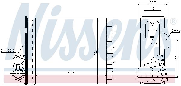 Radiateur de chauffage NISSENS 76512 (X1)