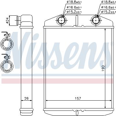 Radiateur de chauffage NISSENS 76514 (X1)