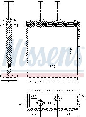 Radiateur de chauffage NISSENS 77505 (X1)