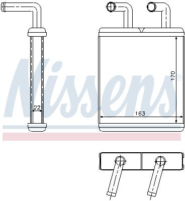 Radiateur de chauffage NISSENS 77509 (X1)