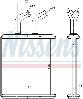 Radiateur de chauffage NISSENS 77514 (X1)