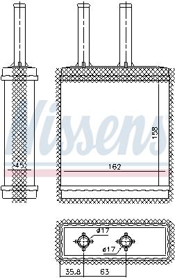 Radiateur de chauffage NISSENS 77519 (X1)