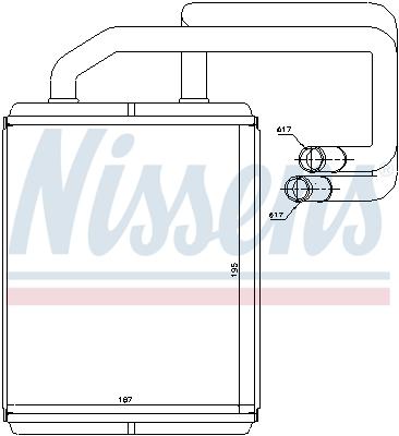 Radiateur de chauffage NISSENS 77528 (X1)