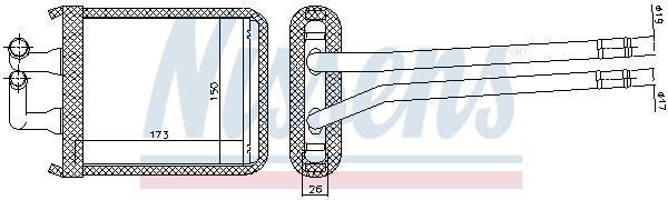 Radiateur de chauffage NISSENS 77539 (X1)