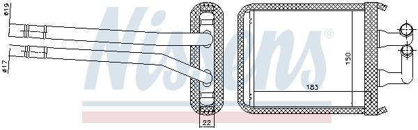 Radiateur de chauffage NISSENS 77540 (X1)