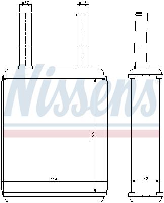 Radiateur de chauffage NISSENS 77600 (X1)