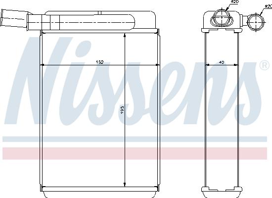 Ventilateur de radiateur NISSENS 85384 (X1)