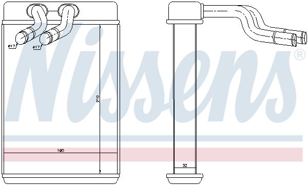 Radiateur de chauffage NISSENS 77610 (X1)