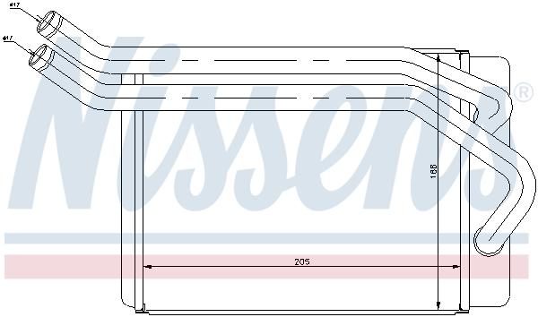 Radiateur de chauffage NISSENS 77614 (X1)