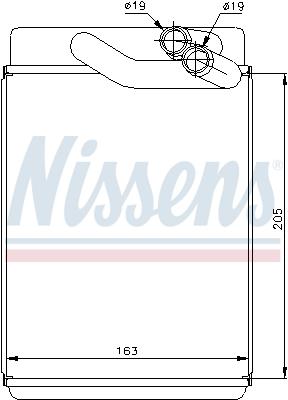 Radiateur de chauffage NISSENS 77616 (X1)