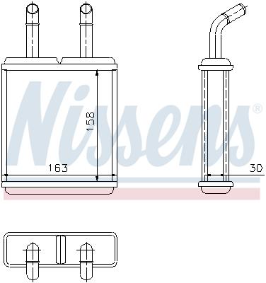 Radiateur de chauffage NISSENS 77621 (X1)