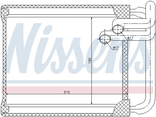 Radiateur de chauffage NISSENS 77632 (X1)